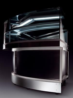 Stiltek Snack Display Cabinet 90 176 Curvy Refrigerated Unit