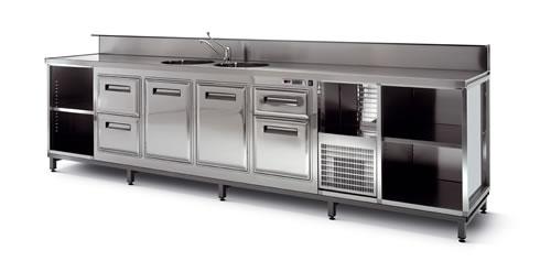 Banchi bar semilavorati refrigerati e neutri for Banchi bar e arredamenti completi